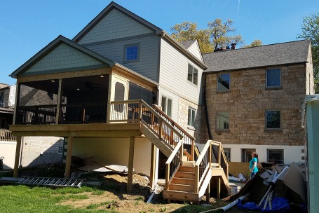 Two Story Rear Home Addition