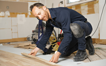 Step Seven: Tile & Wood Flooring